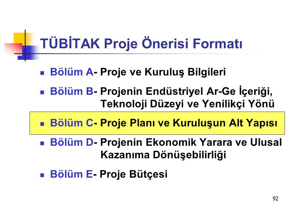 TÜBİTAK Proje Önerisi Formatı