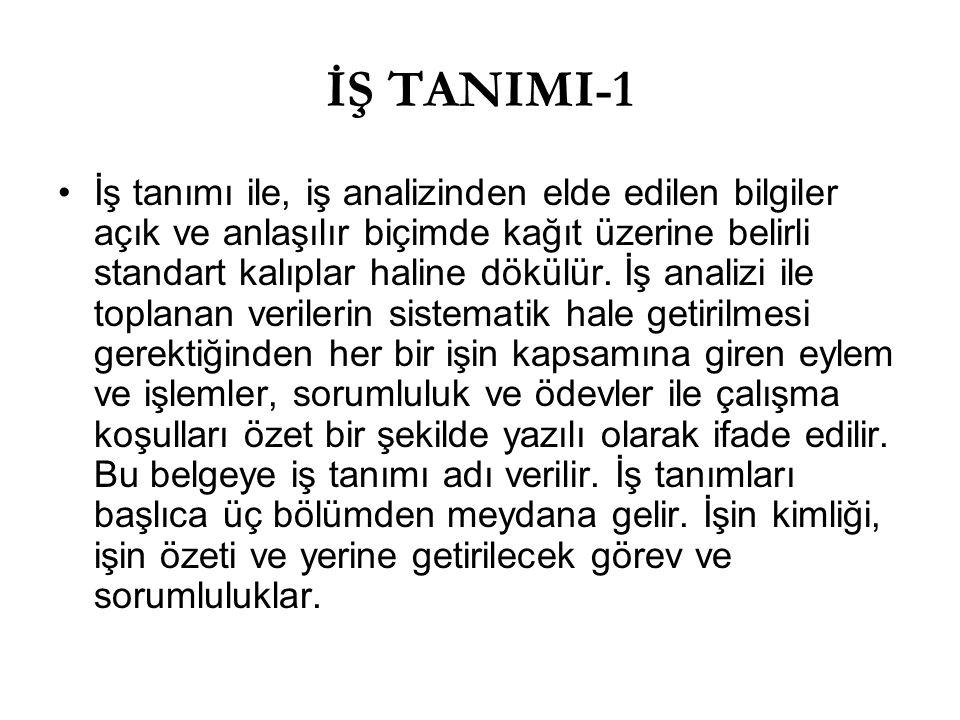 İŞ TANIMI-1