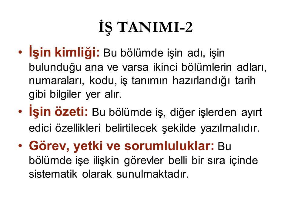 İŞ TANIMI-2