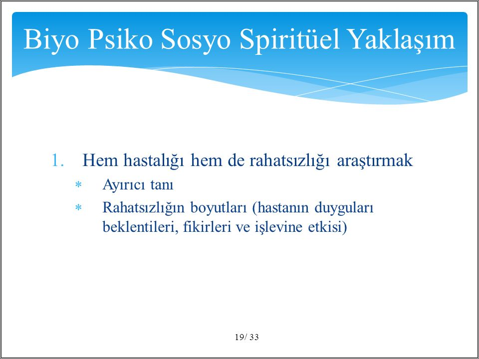 Biyo Psiko Sosyo Spiritüel Yaklaşım