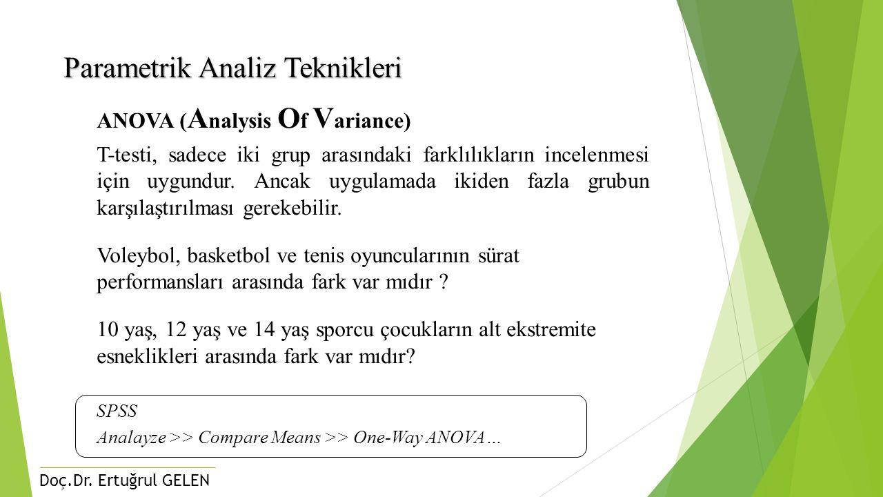 Parametrik Analiz Teknikleri