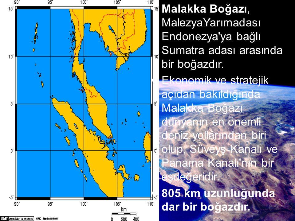 Malakka Boğazı, MalezyaYarımadası Endonezya ya bağlı Sumatra adası arasında bir boğazdır.