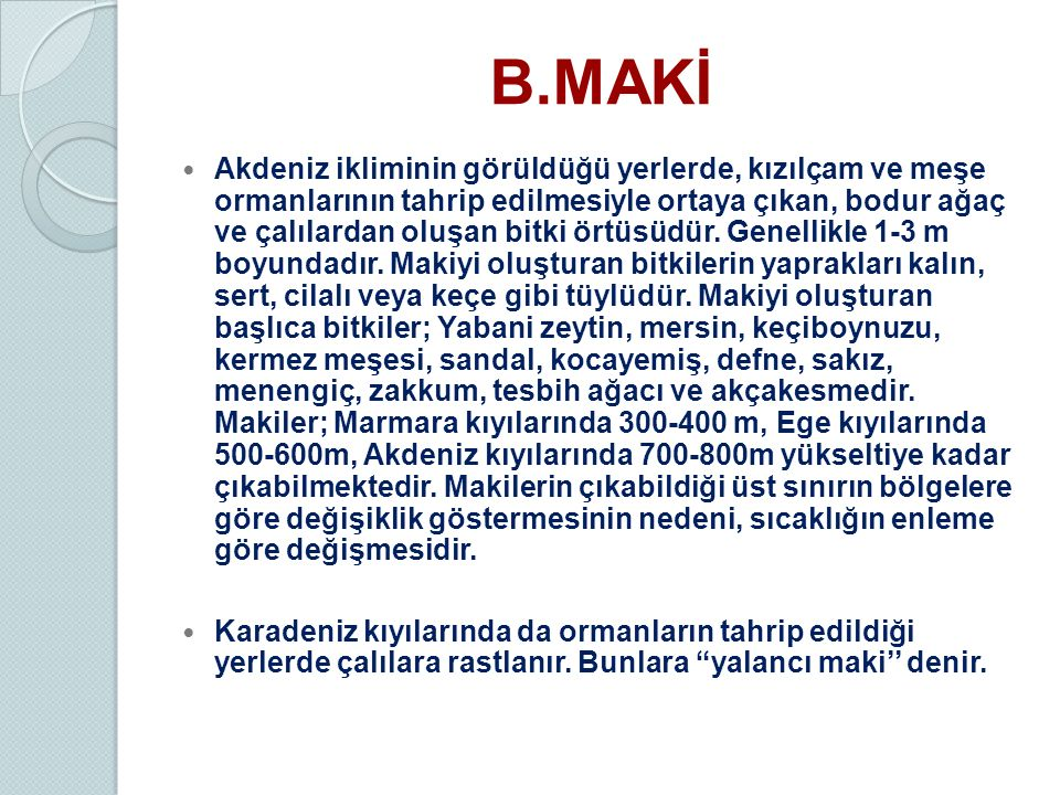 B.MAKİ