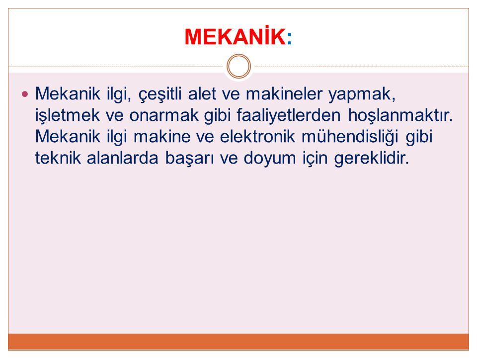 MEKANİK: