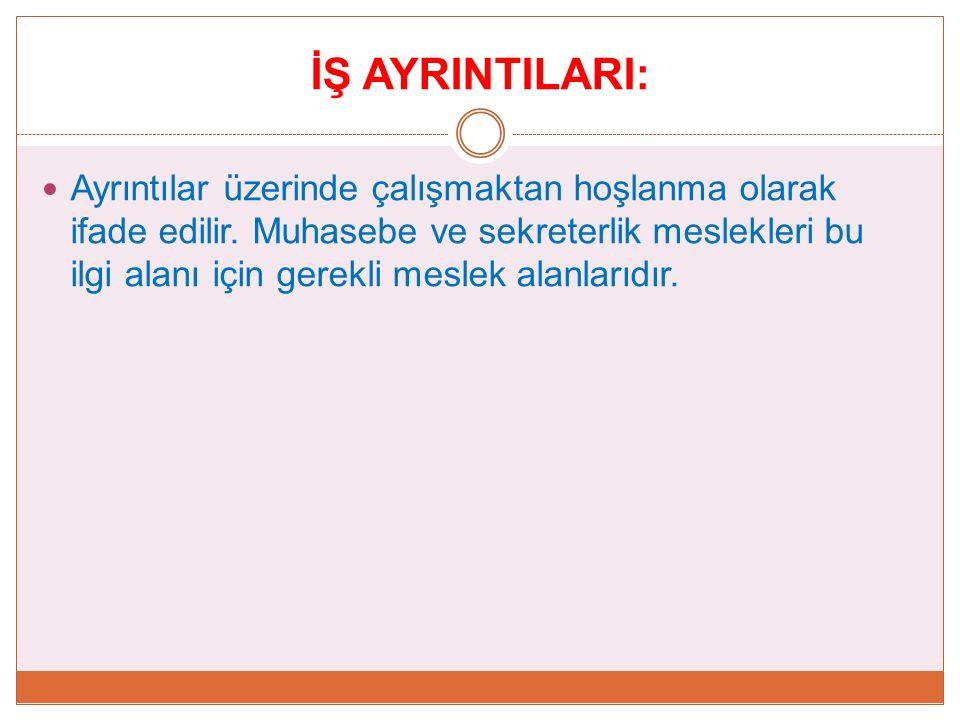 İŞ AYRINTILARI: