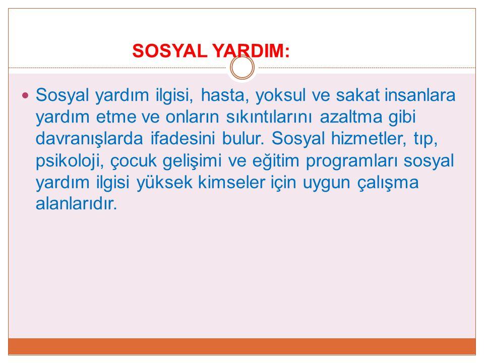 SOSYAL YARDIM: