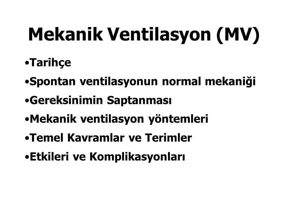 Mekanik Ventilasyon (MV)