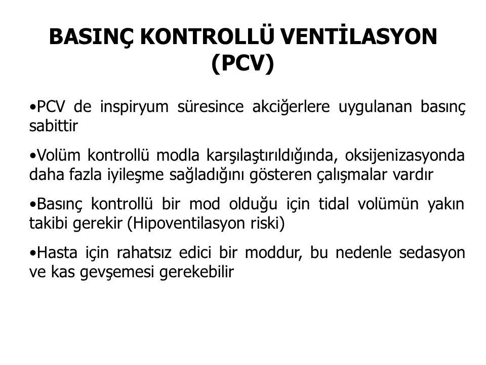 BASINÇ KONTROLLÜ VENTİLASYON (PCV)