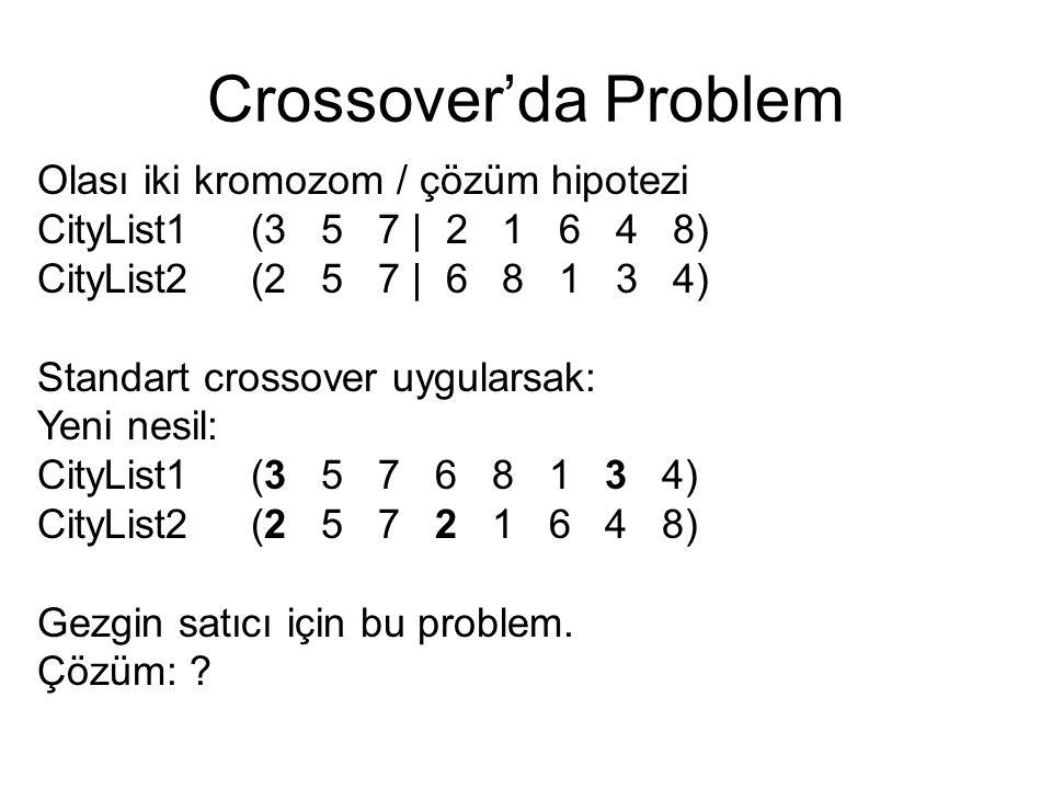Crossover'da Problem Olası iki kromozom / çözüm hipotezi