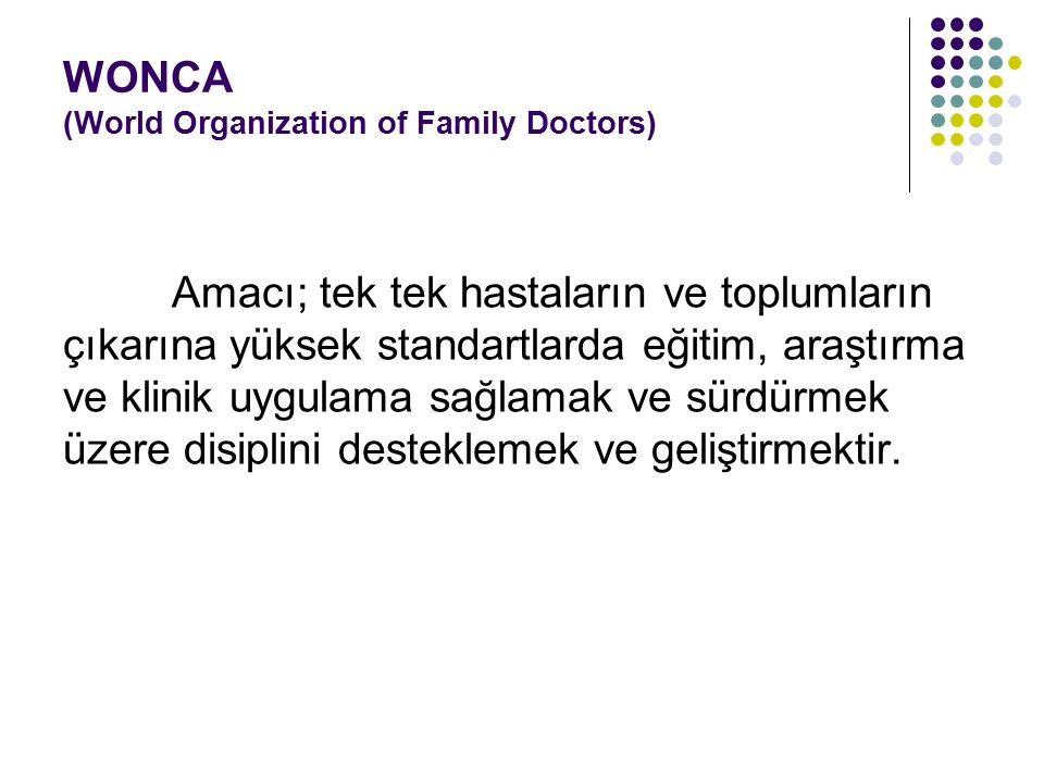 WONCA (World Organization of Family Doctors)