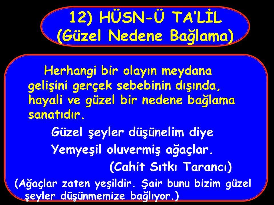12) HÜSN-Ü TA'LİL (Güzel Nedene Bağlama)
