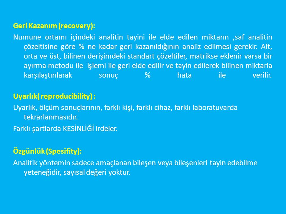 Geri Kazanım (recovery):