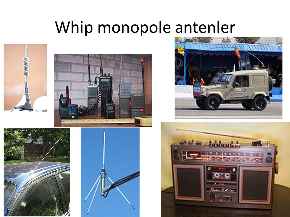 Whip monopole antenler