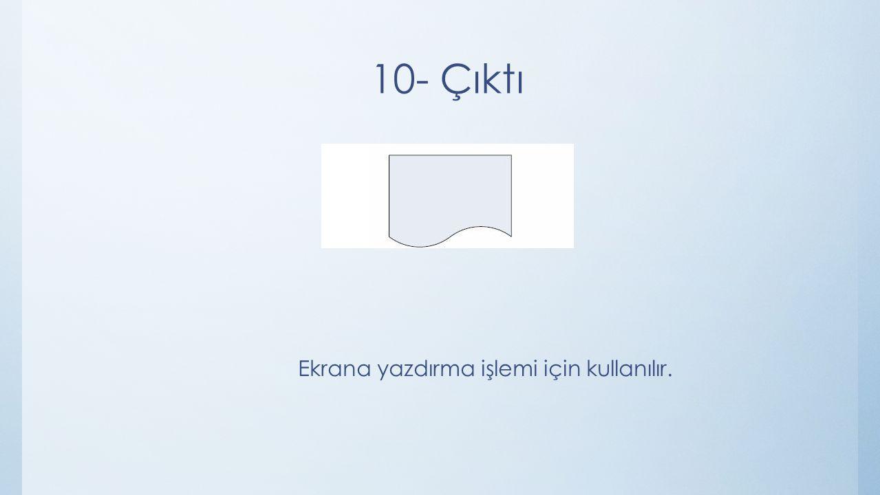 Ekrana yazdırma işlemi için kullanılır.