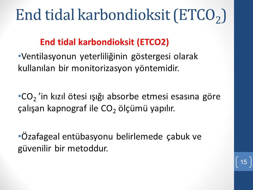 End tidal karbondioksit (ETCO2)