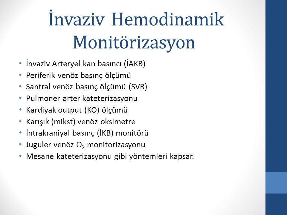 İnvaziv Hemodinamik Monitörizasyon
