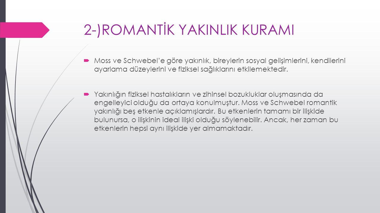 2-)ROMANTİK YAKINLIK KURAMI