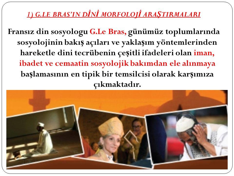 1) G.LE BRAS'IN DİNİ MORFOLOJİ ARAŞTIRMALARI