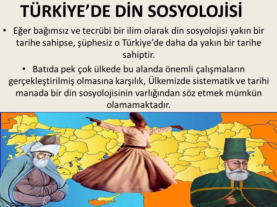 TÜRKİYE'DE DİN SOSYOLOJİSİ
