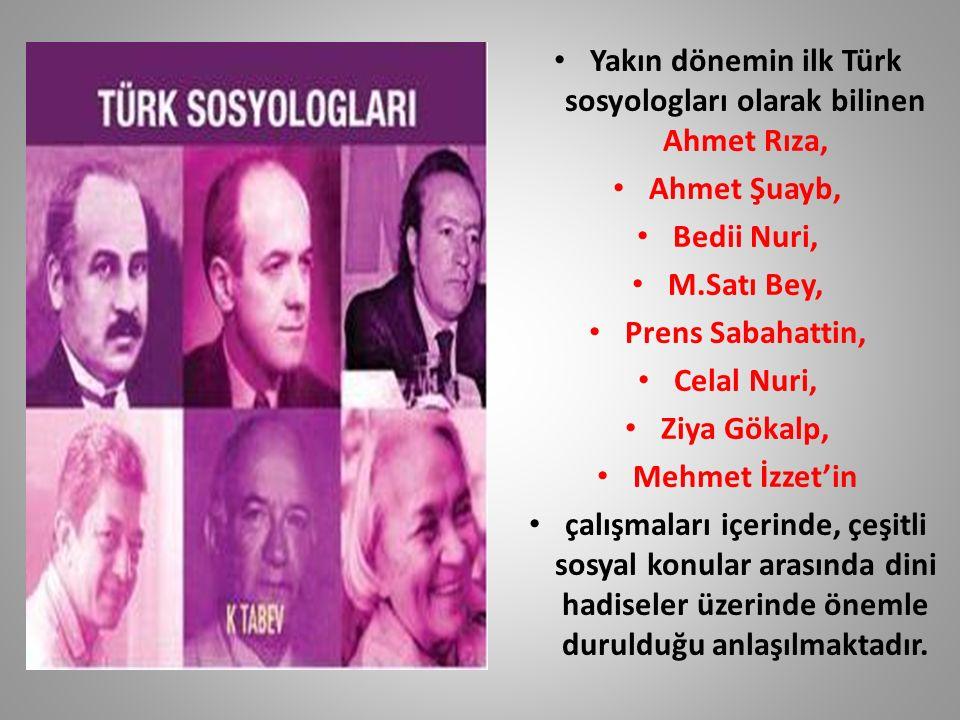 Yakın dönemin ilk Türk sosyologları olarak bilinen Ahmet Rıza,
