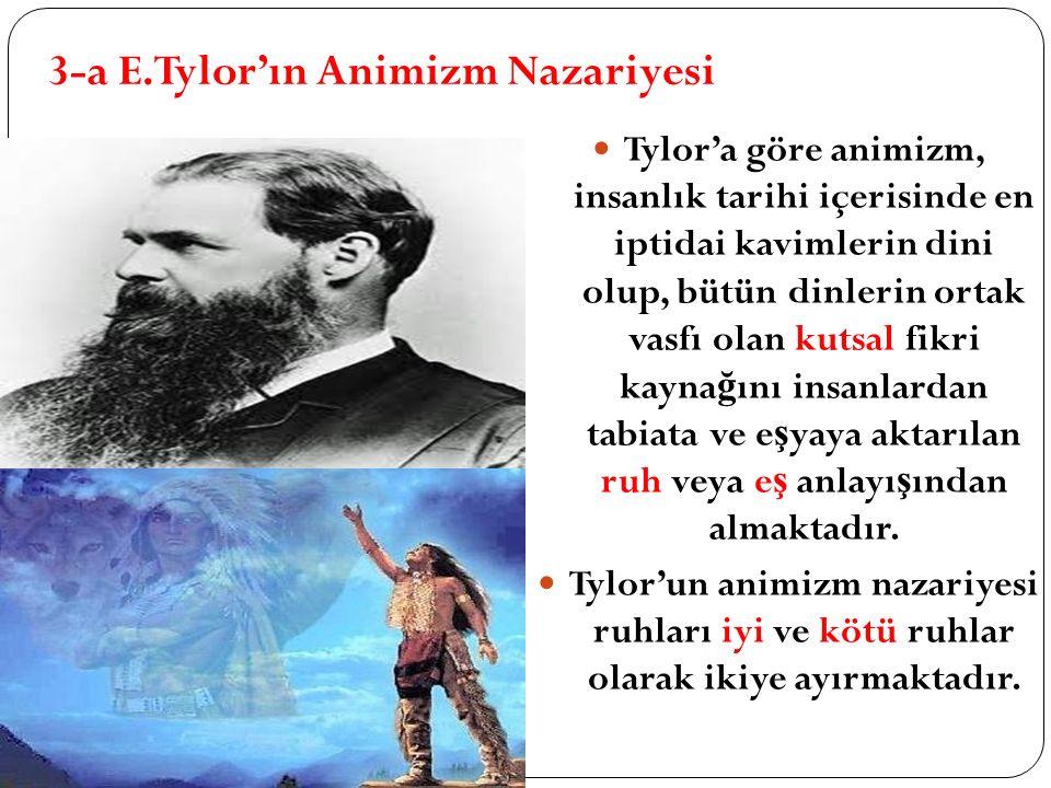 3-a E.Tylor'ın Animizm Nazariyesi