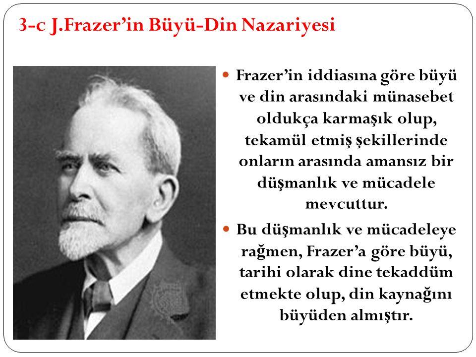 3-c J.Frazer'in Büyü-Din Nazariyesi