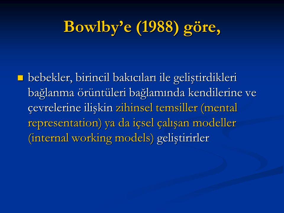 Bowlby'e (1988) göre,
