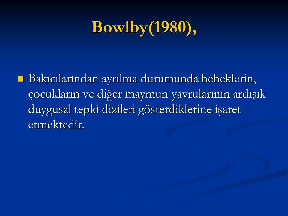 Bowlby(1980),