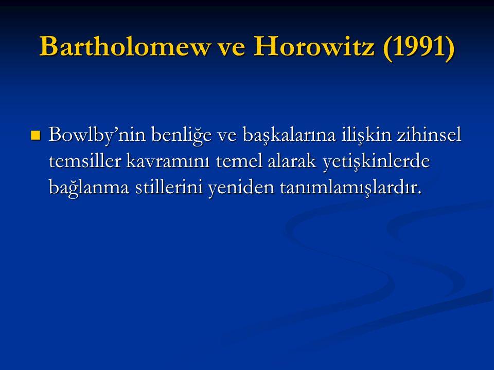 Bartholomew ve Horowitz (1991)