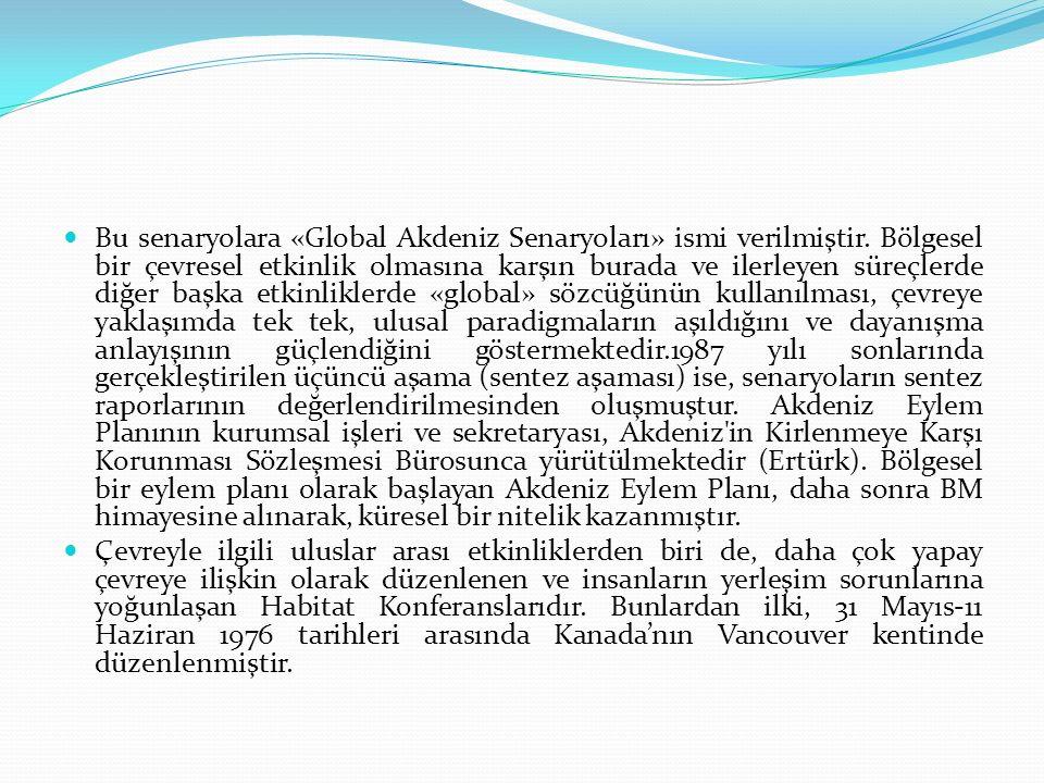 Bu senaryolara «Global Akdeniz Senaryoları» ismi verilmiştir