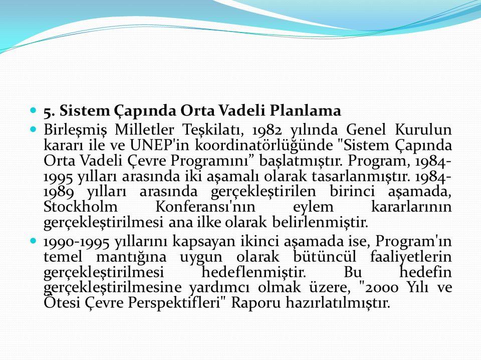 5. Sistem Çapında Orta Vadeli Planlama