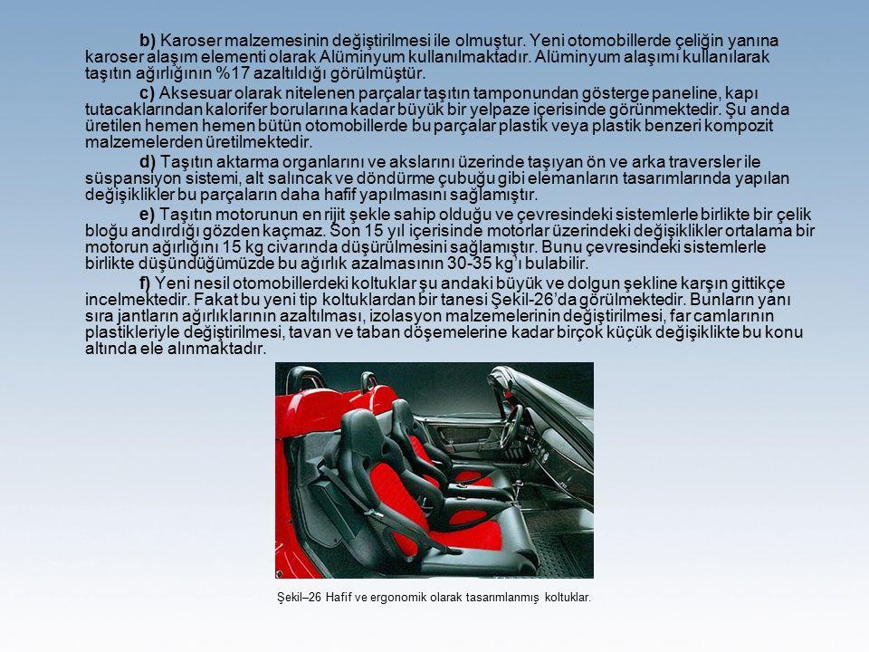 Şekil–26 Hafif ve ergonomik olarak tasarımlanmış koltuklar.
