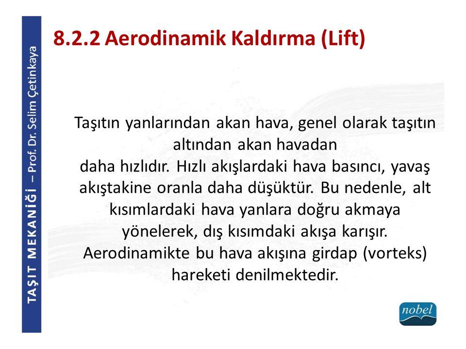8.2.2 Aerodinamik Kaldırma (Lift)