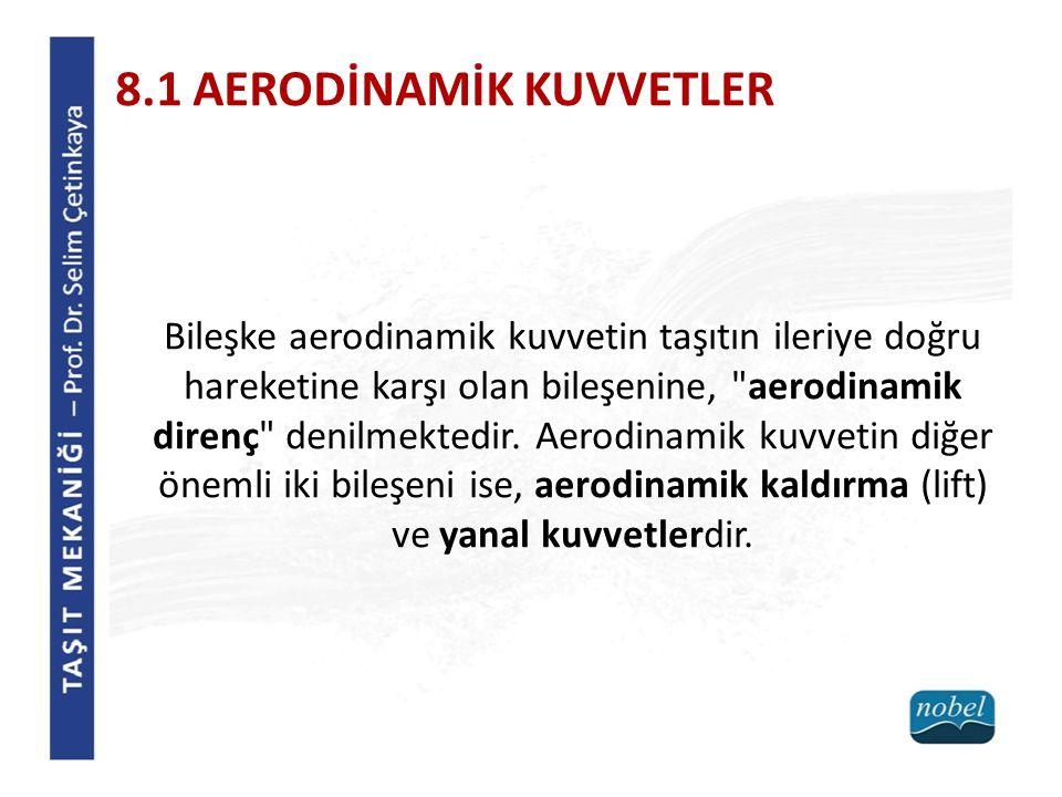 8.1 AERODİNAMİK KUVVETLER