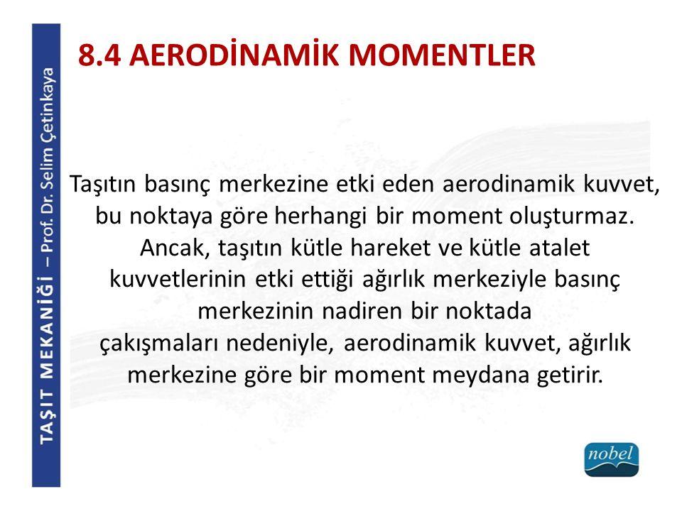 8.4 AERODİNAMİK MOMENTLER