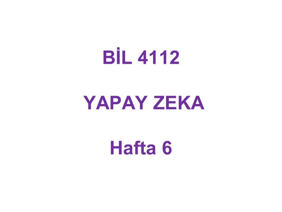 BİL 4112 YAPAY ZEKA Hafta 6