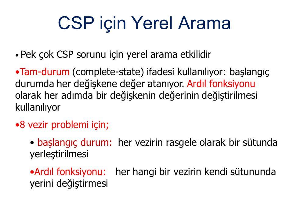 CSP için Yerel Arama Pek çok CSP sorunu için yerel arama etkilidir.