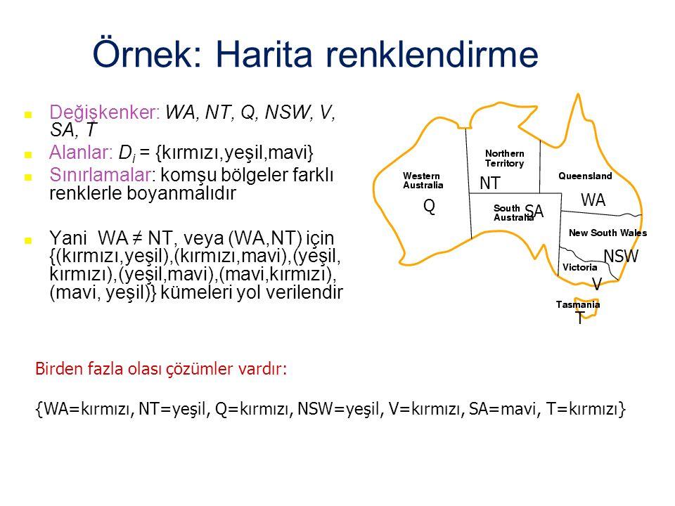 Örnek: Harita renklendirme
