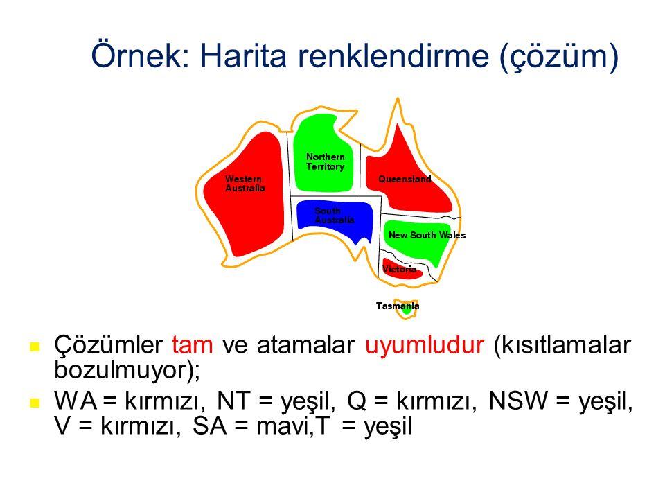 Örnek: Harita renklendirme (çözüm)