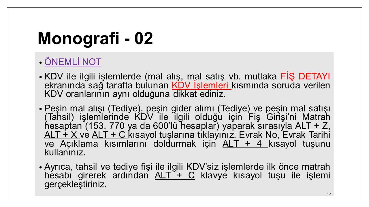 Monografi - 02 ÖNEMLİ NOT.