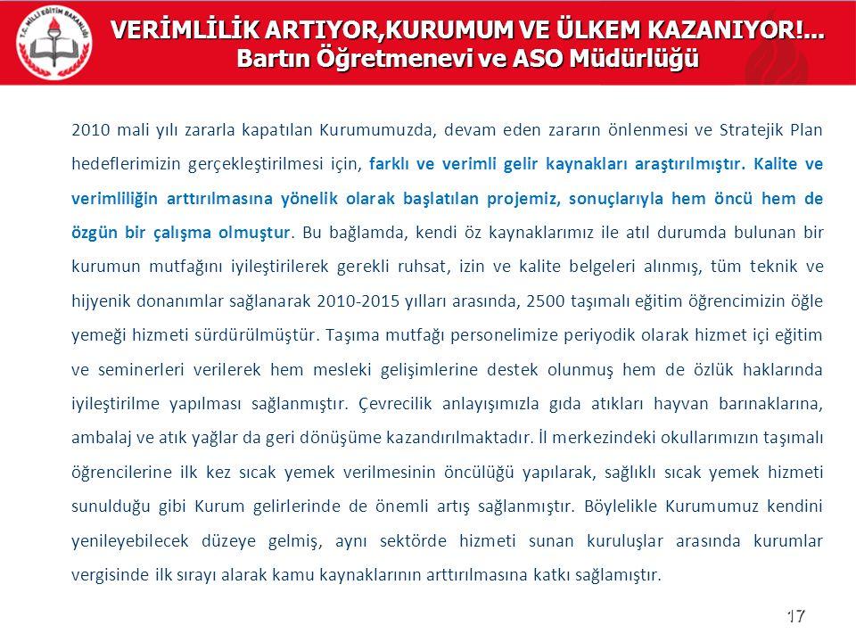 VERİMLİLİK ARTIYOR,KURUMUM VE ÜLKEM KAZANIYOR