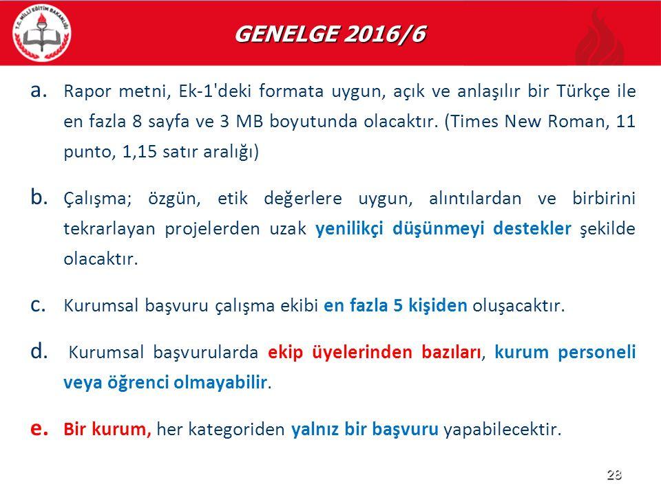 GENELGE 2016/6