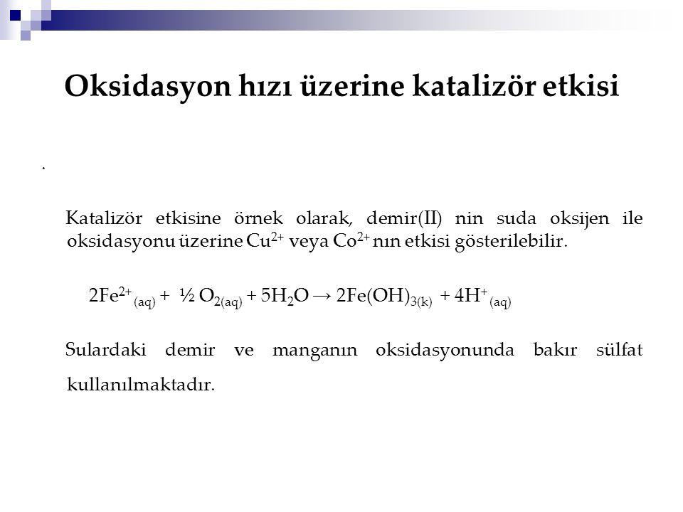 Oksidasyon hızı üzerine katalizör etkisi