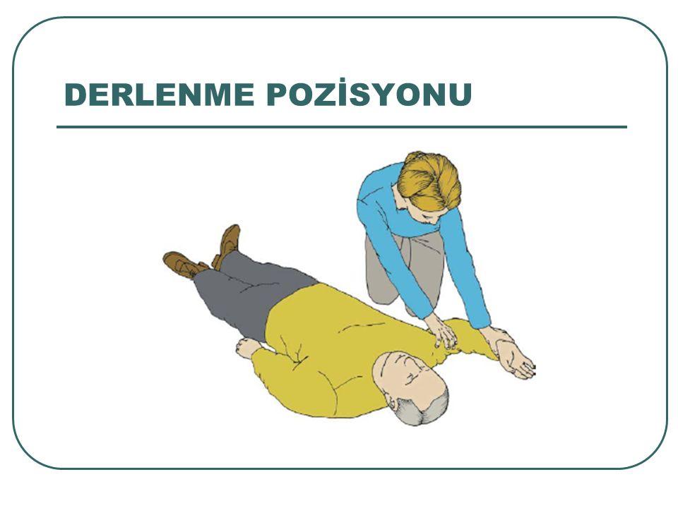 DERLENME POZİSYONU Spontan solunum başlamış olan hastada derlenme pozisyonu: