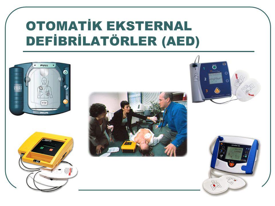OTOMATİK EKSTERNAL DEFİBRİLATÖRLER (AED)
