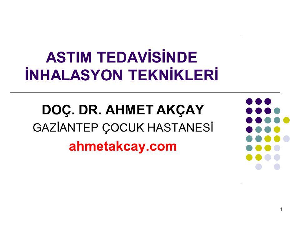 ASTIM TEDAVİSİNDE İNHALASYON TEKNİKLERİ