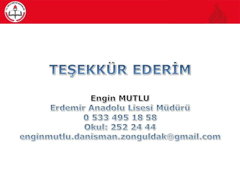 Erdemir Anadolu Lisesi Müdürü