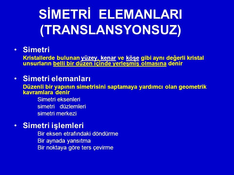 SİMETRİ ELEMANLARI (TRANSLANSYONSUZ)