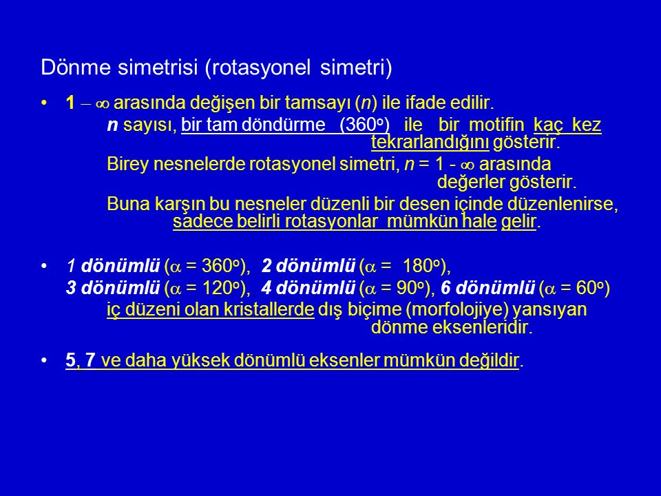 Dönme simetrisi (rotasyonel simetri)