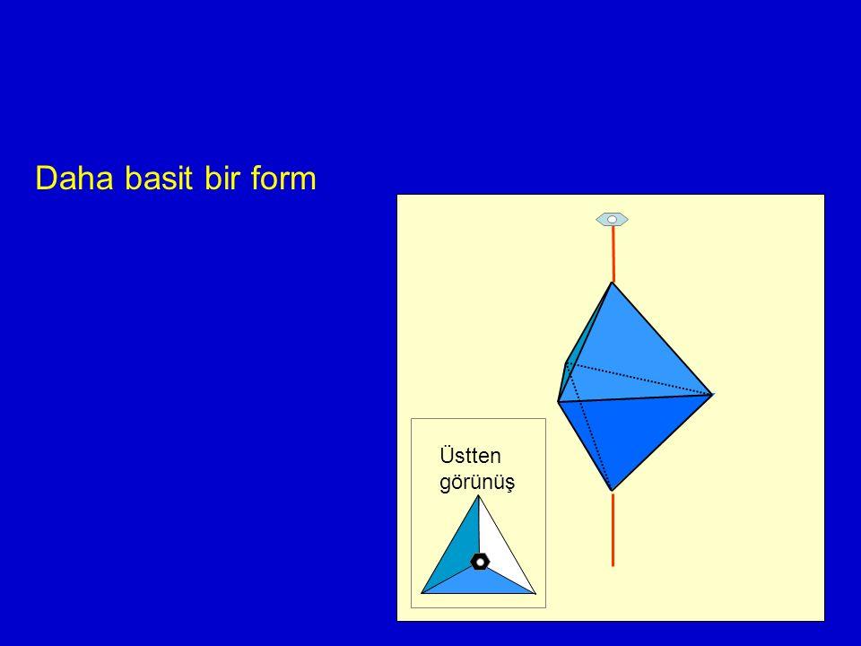 Daha basit bir form Üstten görünüş